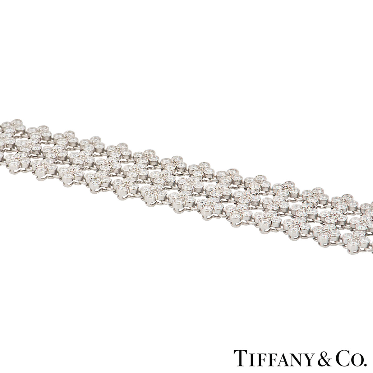 Tiffany & Co. Platinum Diamond Lace Bracelet